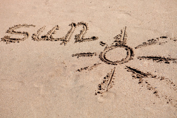 Written on the sand of the beach