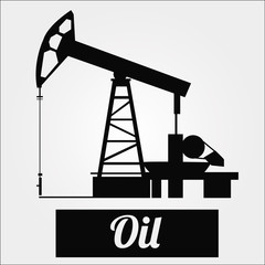 Oil or combustible illustration over color background