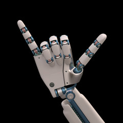 Hang Loose Robot. Clipping path included.