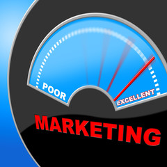 Excellent Marketing Represents Selling Excelling And Perfect