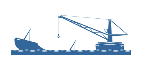 Salvaging a sunken ship