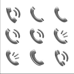 Contact Icons isolated on white