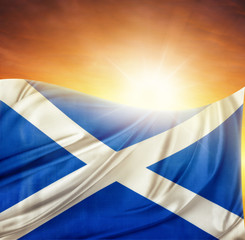 Scottish flag and sky