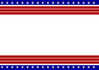 Patriotic frame border background