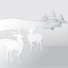 Reindeer Paper Collage