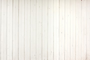 White Wood Planks Panel