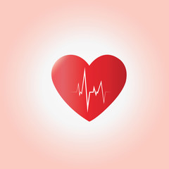 heart beat  ecg vector concept of medical,health care