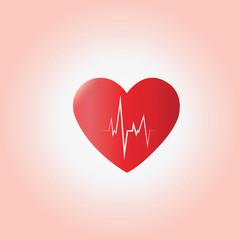 heart beat  ecg vector concept of medical,health care