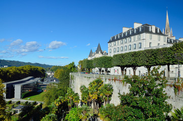 Autumn view of the French city Pau