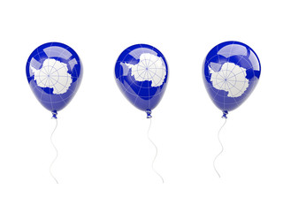 Air balloons with flag of antarctica