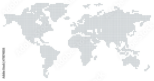Dotted World Map - grey\