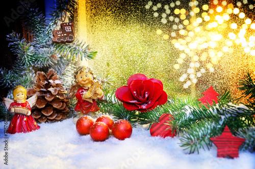 Fensterschmuck Zu Weihnachten Stock Photo And Royalty Free Images