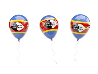 Air balloons with flag of swaziland