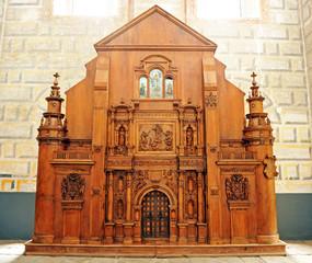 Iglesia del Salvador, maqueta de madera, Úbeda, España