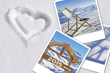 2015, photos in the snow, winter holiday concept