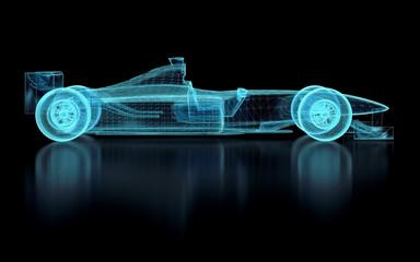 Printed roller blinds F1 Formula One Mesh