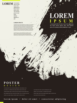 abstract Chinese calligraphy design for poster