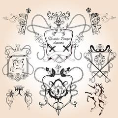 Heraldic design elements