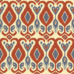 Traditional fabric ikat pattern