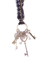 keys white necklace