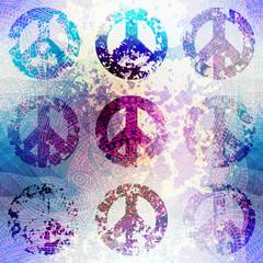 Grunge pacifics symbol.