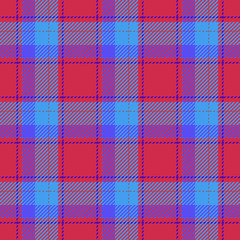 Plaid retro red blue seamless pattern - for hipster shirt