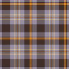 Plaid retro brown seamless pattern - for hipster shirt