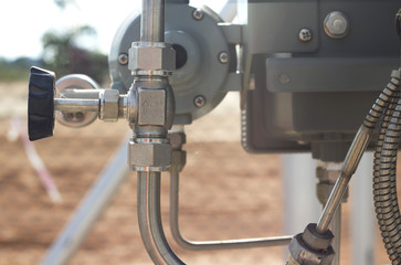 valve on site, close-up, industrial images