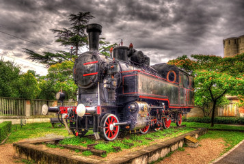 Steam locomotive - monument in Rijeka, Croatia