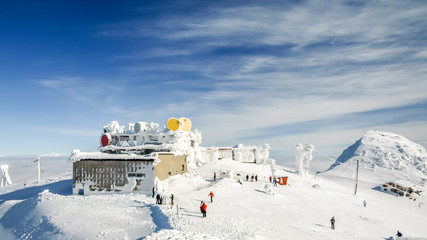 view of the top of Chopok in winter, Low Tatras in slovakia duri