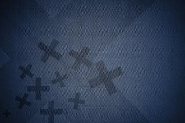 X Blue Background