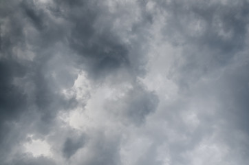 Rainy (or rain) cloud, gray color background