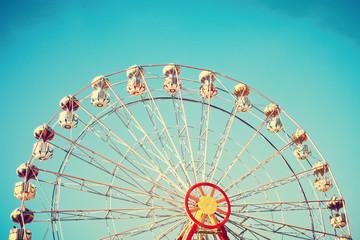 Vintage summer ferris wheel