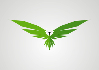 Eagle green logo vector