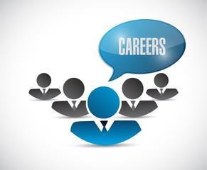 career message illustration design