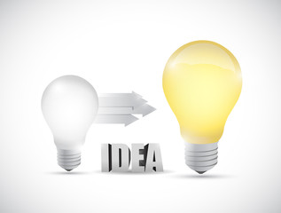 light bulb ideas illustration design