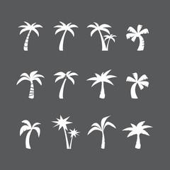 coconut tree icon set, vector eps10