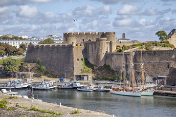 Old castle of city Brest, Brittany, France Wall mural