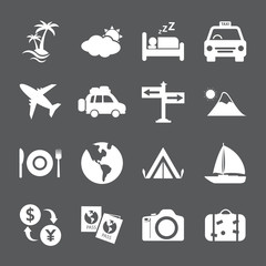 travel and tourism icon set, vector eps10