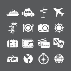 vacation icon set, vector eps10
