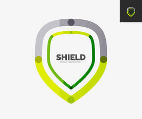 Minimal line design logo, shield icon