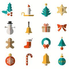 Christmas and Winter icons set
