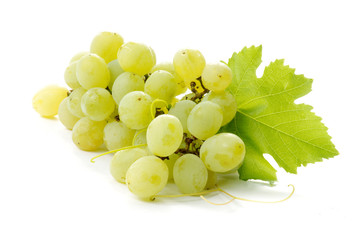 grapes close-up on a white background