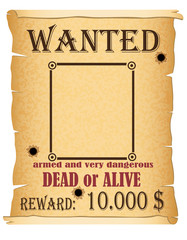 announcement wanted criminal poster vector illustration