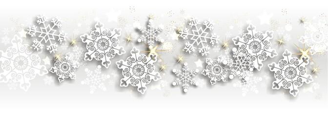 Hintergrund mit Schneeflocken und Sternen