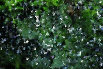 Mosaik, Struktur in grün und schwarz