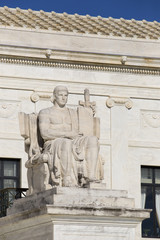 Statue outside the Supreme Court in Washington