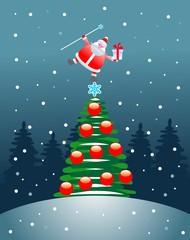 Santa Claus on the Christmas tree