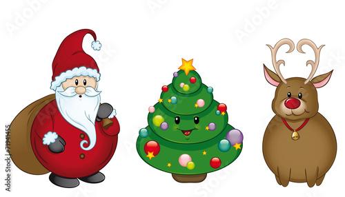 Weihnachtsfiguren set kollektion sammlung stockfotos und lizenzfreie vektoren auf - Clipart weihnachtswichtel ...