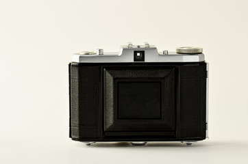 Old photo camera, on film, second hand
